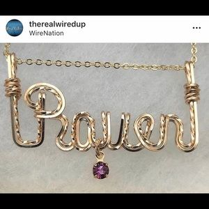 "Jewelry - Our hand made ""Plate Style"" custom name necklace"